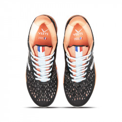 Lacets chaussure running femme Inside MIF 3 noir-corail