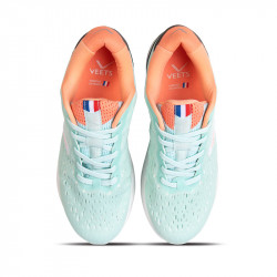 Lacets chaussure running femme Veloce MIF 3 vert-corail