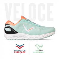 Chaussure running femme Veloce MIF 3 vert-corail